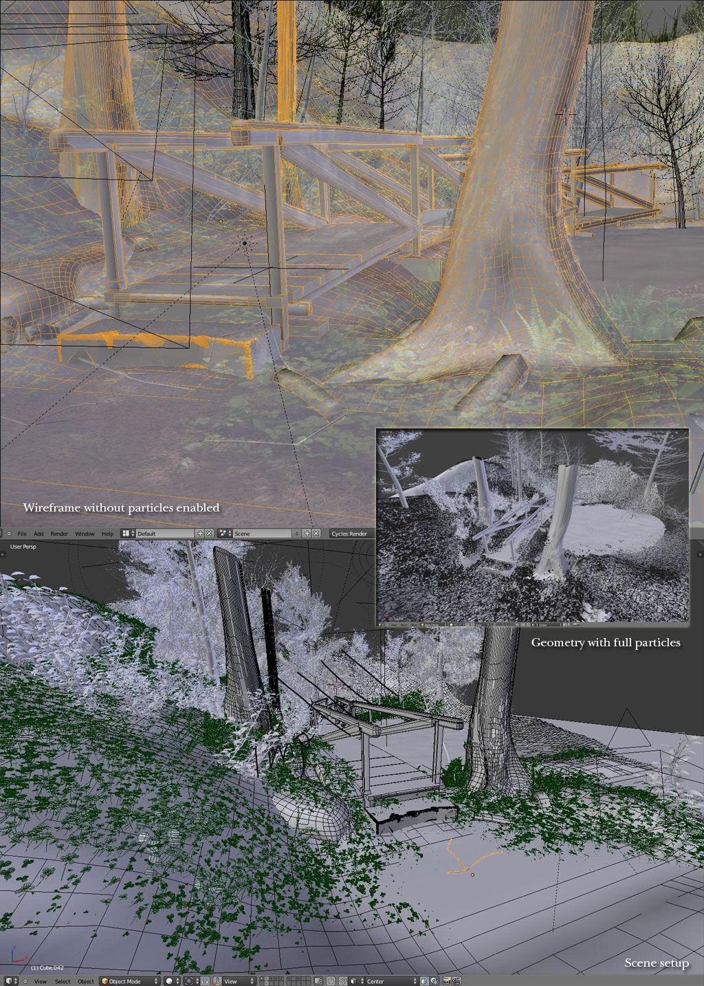 detalii modelare peisaj 3d